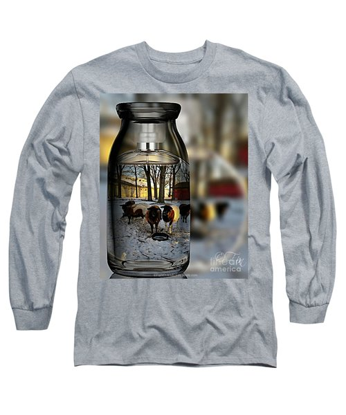 Milk Jar Reflecton Long Sleeve T-Shirt