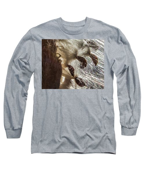 Milkweed Seed Burst Long Sleeve T-Shirt