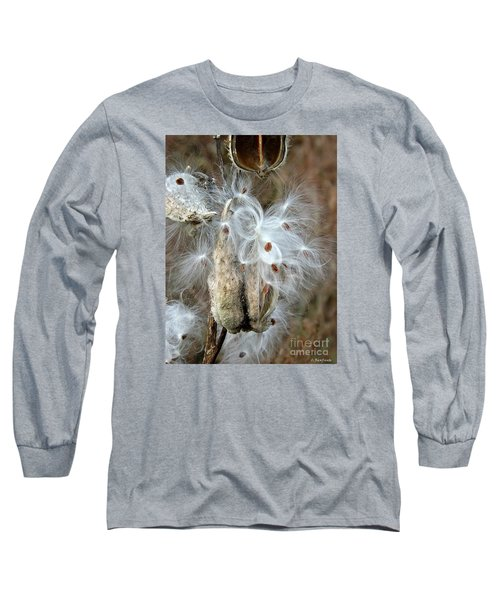 Milkweeds Seeds  Long Sleeve T-Shirt by Christy Ricafrente