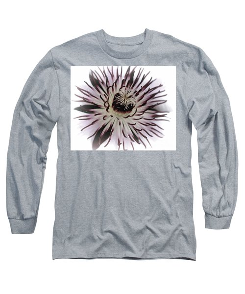 Long Sleeve T-Shirt featuring the photograph Milky Clematis by Baggieoldboy