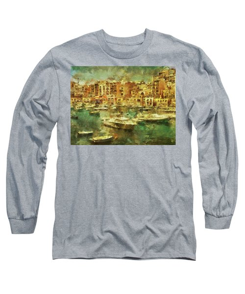 Long Sleeve T-Shirt featuring the digital art Millionaire's Playground by Leigh Kemp