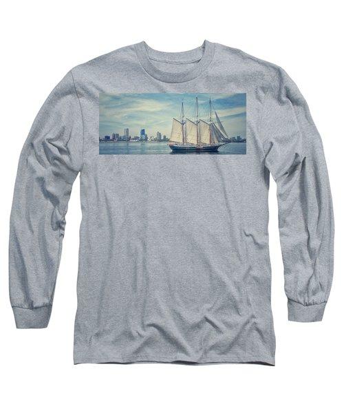 Milwaukee Schooner Long Sleeve T-Shirt by Nikki McInnes