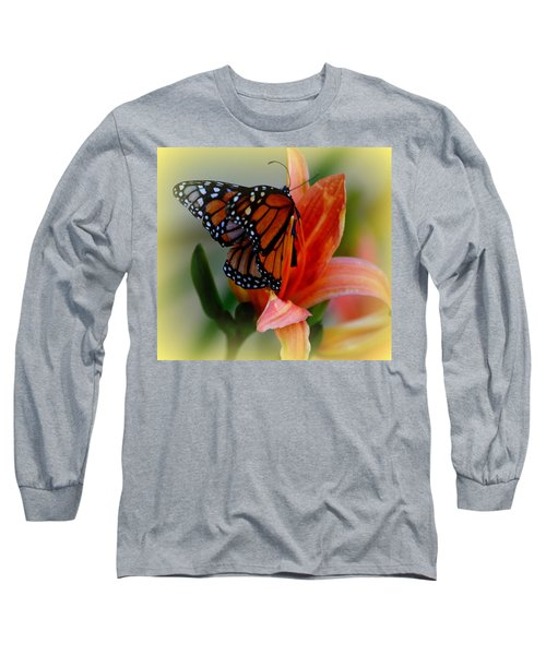 Mingle With A Monarch Long Sleeve T-Shirt