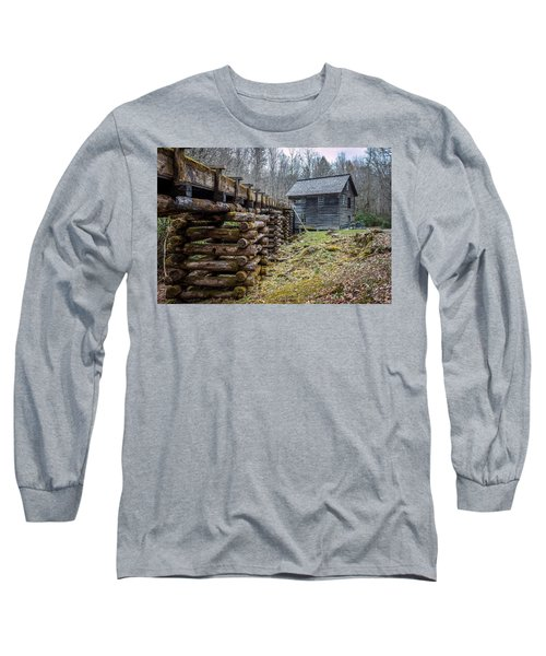 Mingus Millrace And Mill In Late Winter Long Sleeve T-Shirt