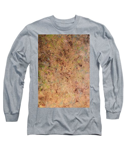 Long Sleeve T-Shirt featuring the painting Minimal 7 by James W Johnson
