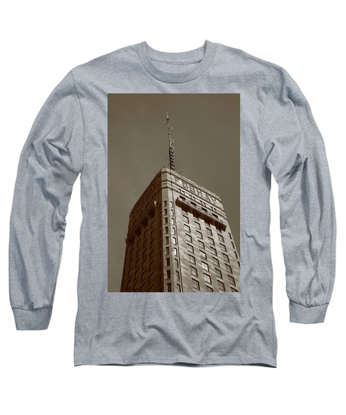 Long Sleeve T-Shirt featuring the photograph Minneapolis Tower 6 Sepia by Frank Romeo