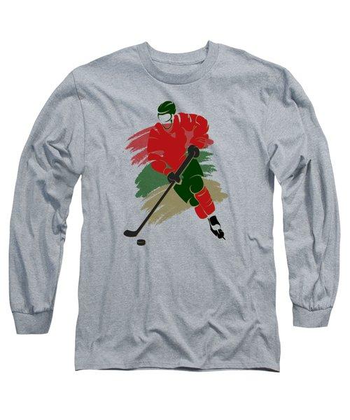 Minnesota Wild Player Shirt Long Sleeve T-Shirt by Joe Hamilton