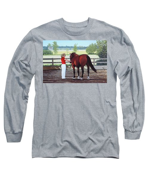 Long Sleeve T-Shirt featuring the painting Mirage Of Wassini by Kenneth  Kirsch