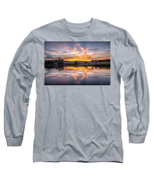 Mirror Lake Sunset Long Sleeve T-Shirt