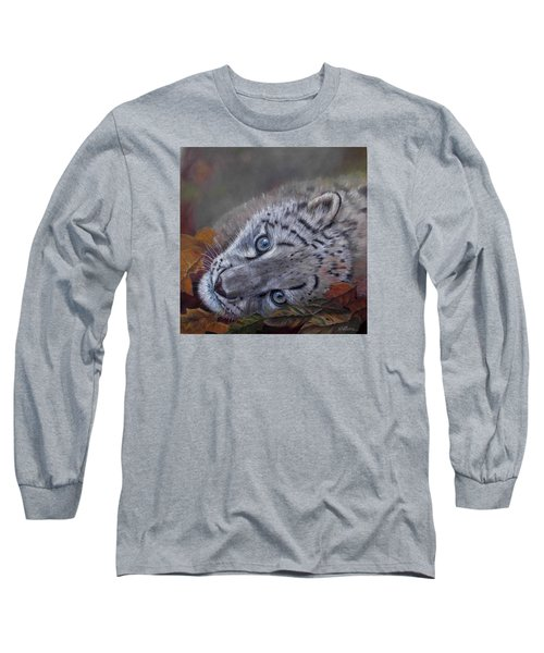 Long Sleeve T-Shirt featuring the painting Mirucha In Fall by Ceci Watson