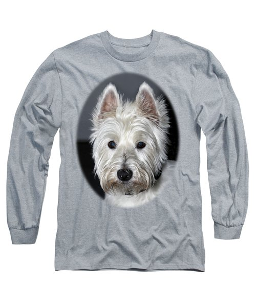 Mischievous Westie Dog Long Sleeve T-Shirt by Bob Slitzan