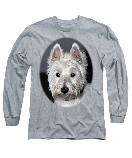 Mischievous Westie Dog Long Sleeve T-Shirt