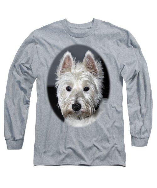 Mischievous Westie Dog Long Sleeve T-Shirt