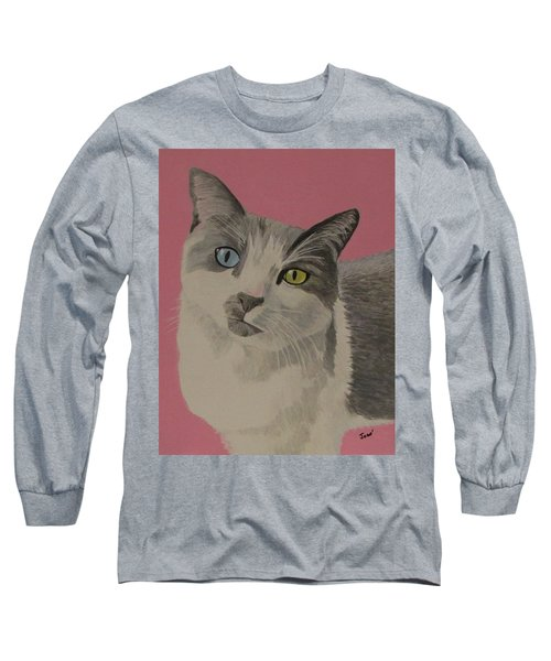Long Sleeve T-Shirt featuring the painting Miss Pretty Kittie by Hilda and Jose Garrancho