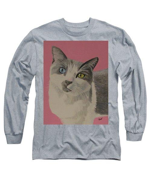 Miss Pretty Kittie Long Sleeve T-Shirt by Hilda and Jose Garrancho