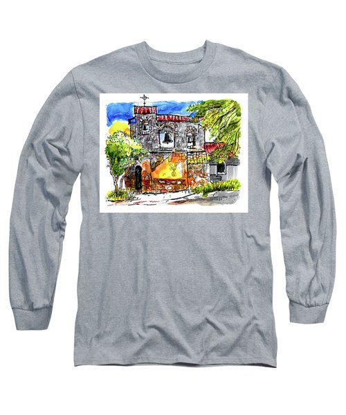 Long Sleeve T-Shirt featuring the painting Mission San Miguel by Terry Banderas