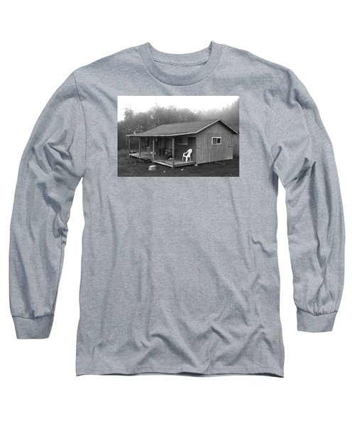 Misty Morning At The Cabin Long Sleeve T-Shirt by Jose Rojas