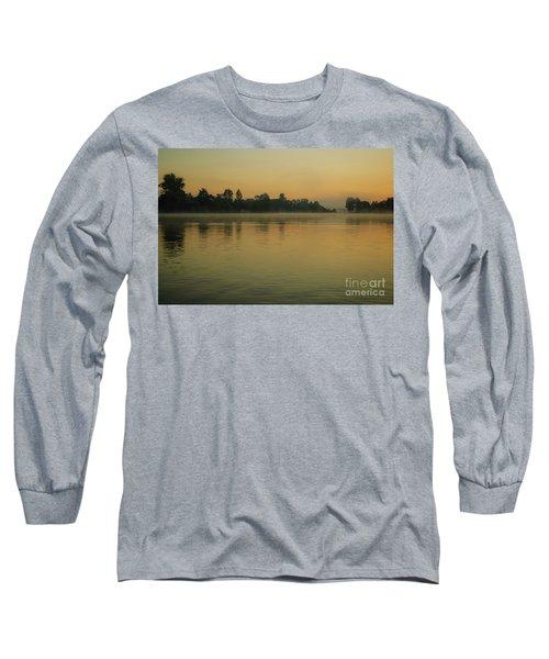 Misty Morning Lake Long Sleeve T-Shirt