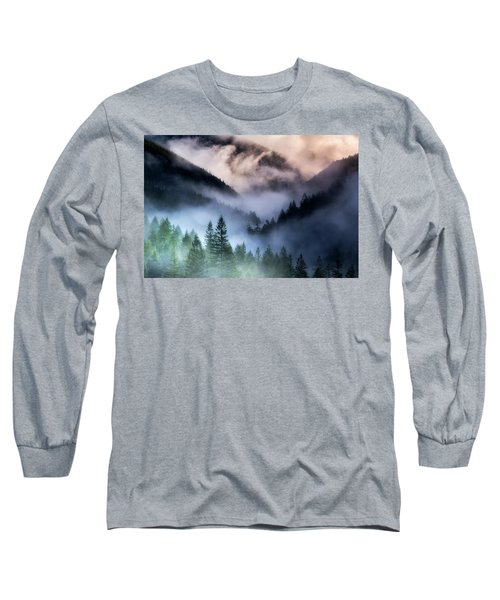 Misty Mornings Long Sleeve T-Shirt by Nicki Frates