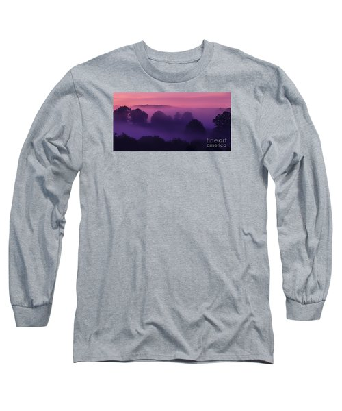 Misty Mountain Dawn Long Sleeve T-Shirt by Thomas R Fletcher