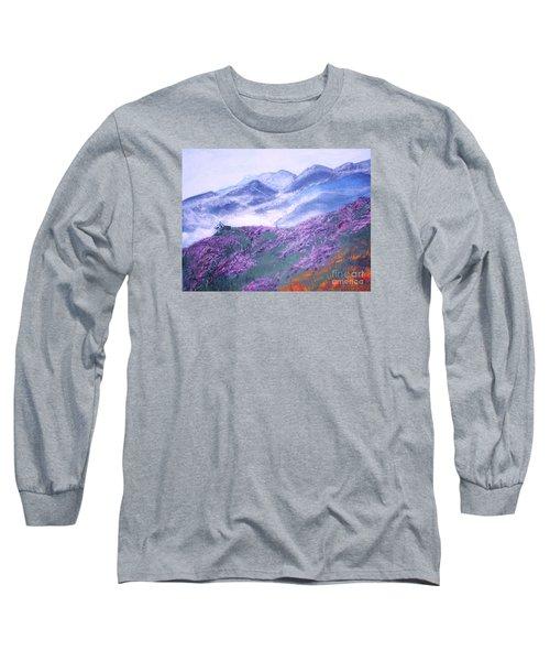 Misty Mountain Hop Long Sleeve T-Shirt by Donna Dixon