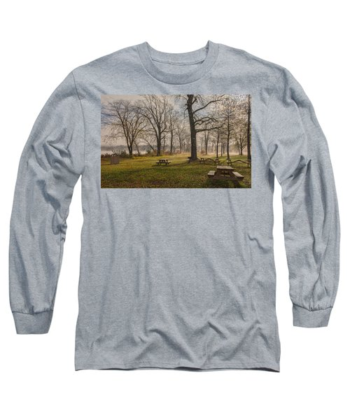 Misty November Picnic Grove Long Sleeve T-Shirt