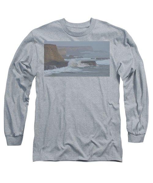 Misty Pacific Cliffs Long Sleeve T-Shirt