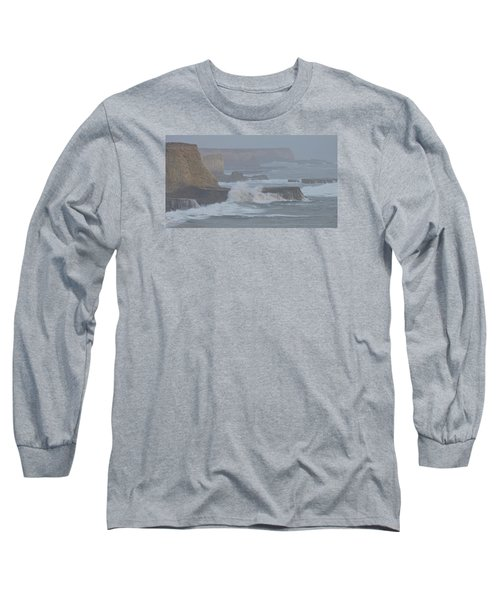 Misty Pacific Cliffs Long Sleeve T-Shirt