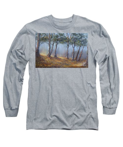 Misty Pines Long Sleeve T-Shirt by Valerie Travers
