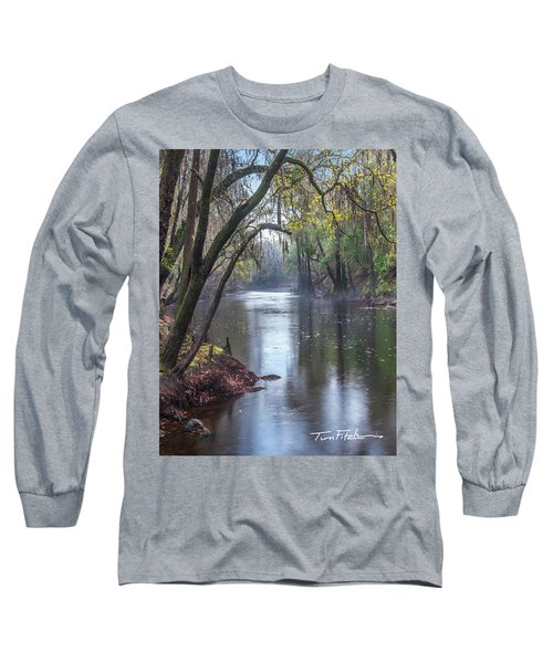 Misty River Long Sleeve T-Shirt by Tim Fitzharris