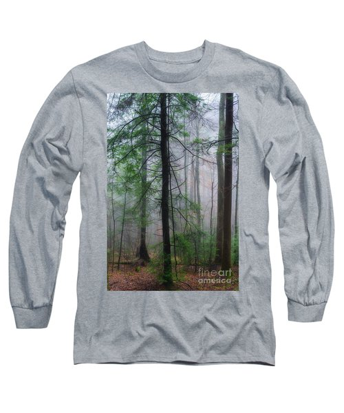 Long Sleeve T-Shirt featuring the photograph Misty Winter Forest by Thomas R Fletcher