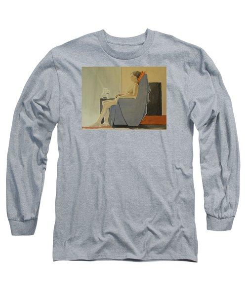 Modell Akvarell 2013 06 15-16 133 Long Sleeve T-Shirt