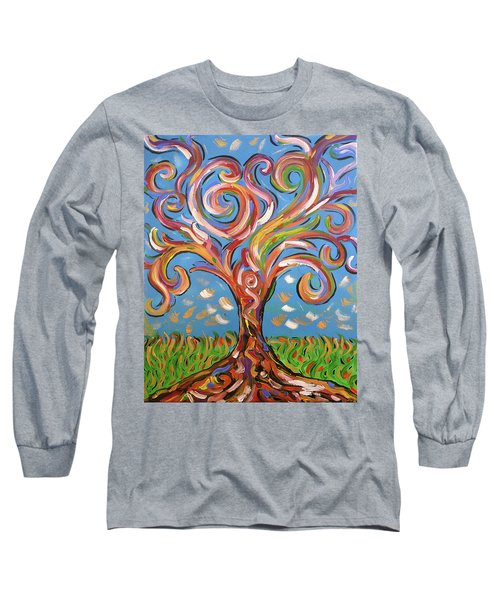 Long Sleeve T-Shirt featuring the painting Modern Impasto Expressionist Painting  by Gioia Albano