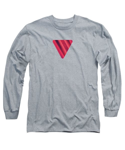Modern Red Black Stripe Abstract Stream Lines Texture Design  Long Sleeve T-Shirt