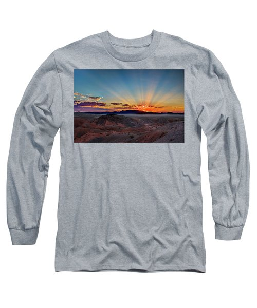 Mohave Sunrise Long Sleeve T-Shirt by Mark Dunton