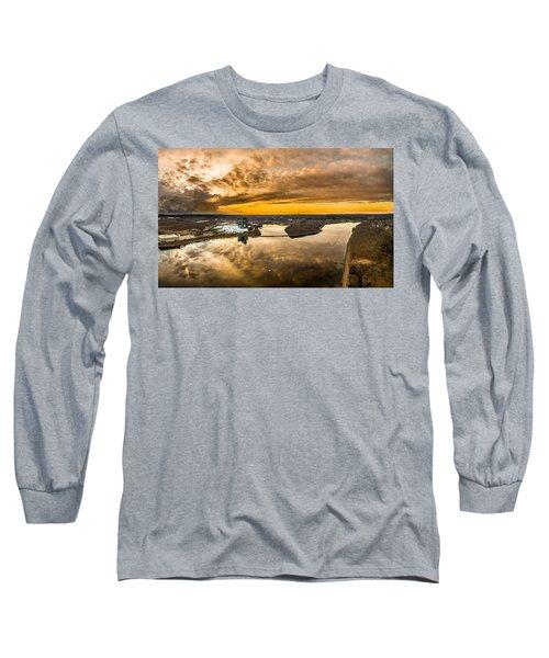 Mohegan Sun Sunset Long Sleeve T-Shirt by Petr Hejl