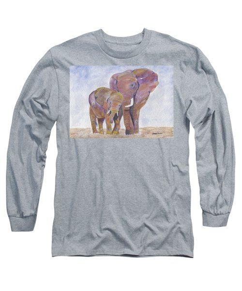 Long Sleeve T-Shirt featuring the painting Mom And Me by Jamie Frier