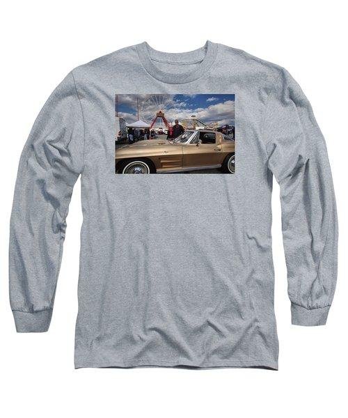 Mom N Vette Long Sleeve T-Shirt by Robert McCubbin