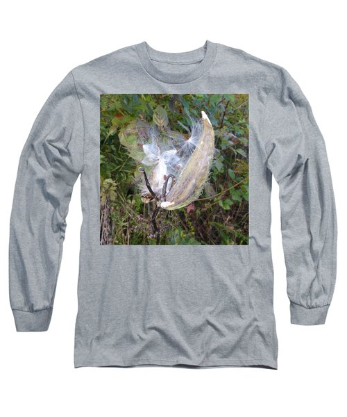 Long Sleeve T-Shirt featuring the photograph Moment In The Life Of A Milkweed by Joel Deutsch