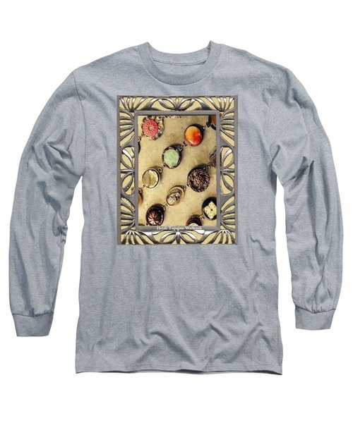 Long Sleeve T-Shirt featuring the mixed media Moments In Time Bracelet Art by Heidi Walkush