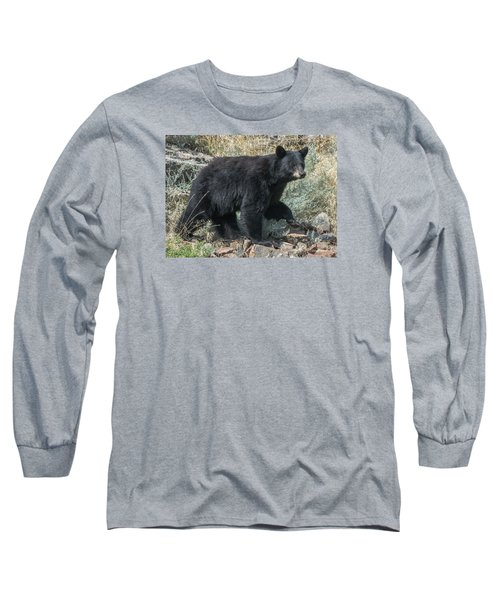 Momma Bear Walking Long Sleeve T-Shirt by Stephen  Johnson
