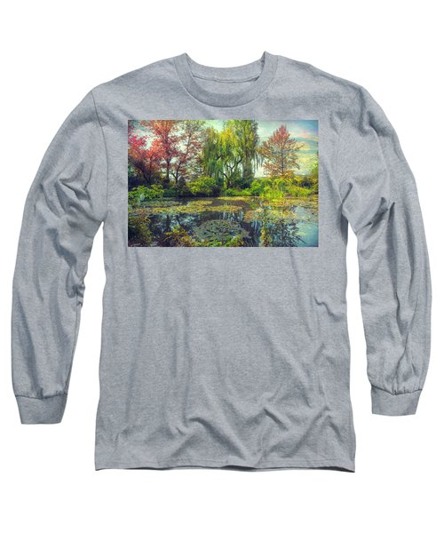 Monet's Afternoon Long Sleeve T-Shirt by John Rivera