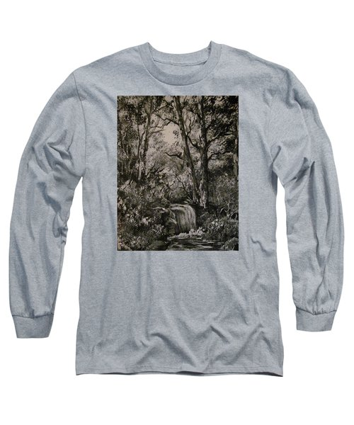 Monochrome Landscape 2 Long Sleeve T-Shirt by Megan Walsh