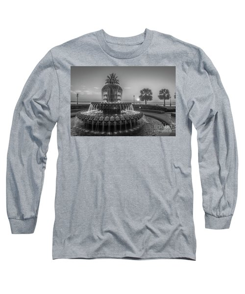 Monochrome Pineapple Long Sleeve T-Shirt