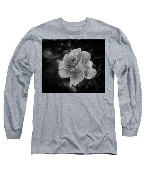 Monochrome Rose Macro Long Sleeve T-Shirt