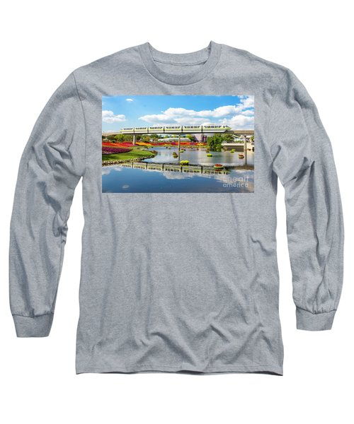 Monorail Cruise Over The Flower Garden. Long Sleeve T-Shirt