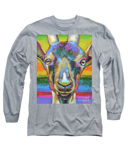 Long Sleeve T-Shirt featuring the painting Monsieur Goat by Robert Phelps