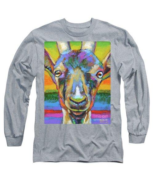 Monsieur Goat Long Sleeve T-Shirt by Robert Phelps
