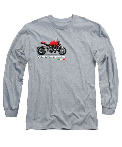 Monster 1200 Long Sleeve T-Shirt by Mark Rogan