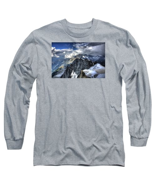 Mont Blanc Near Chamonix In French Alps Long Sleeve T-Shirt by Shawn Everhart